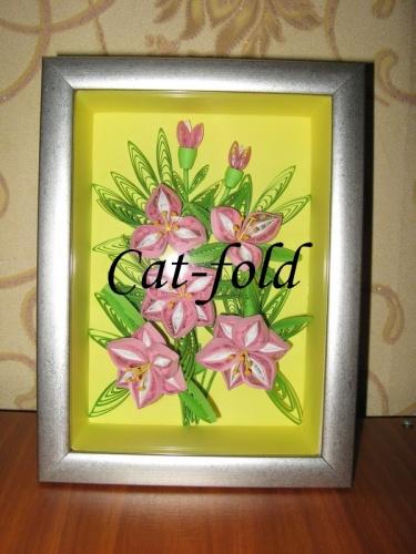 Картина панно букет цветов в рамке