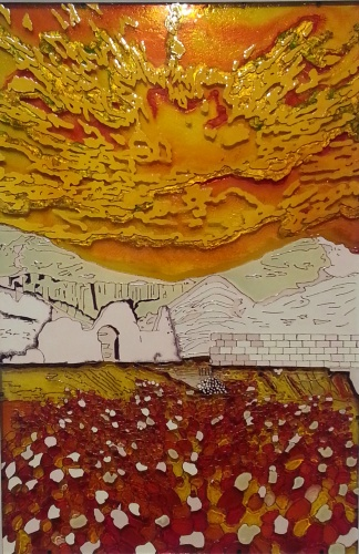 "painting on glass ""Valley of the Kings"""