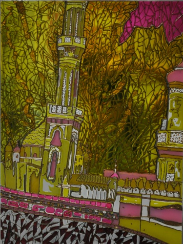 "painting on glass ""Mosque"